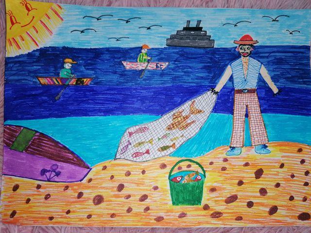 Рибарят и златната рибка - Виктория Илиева