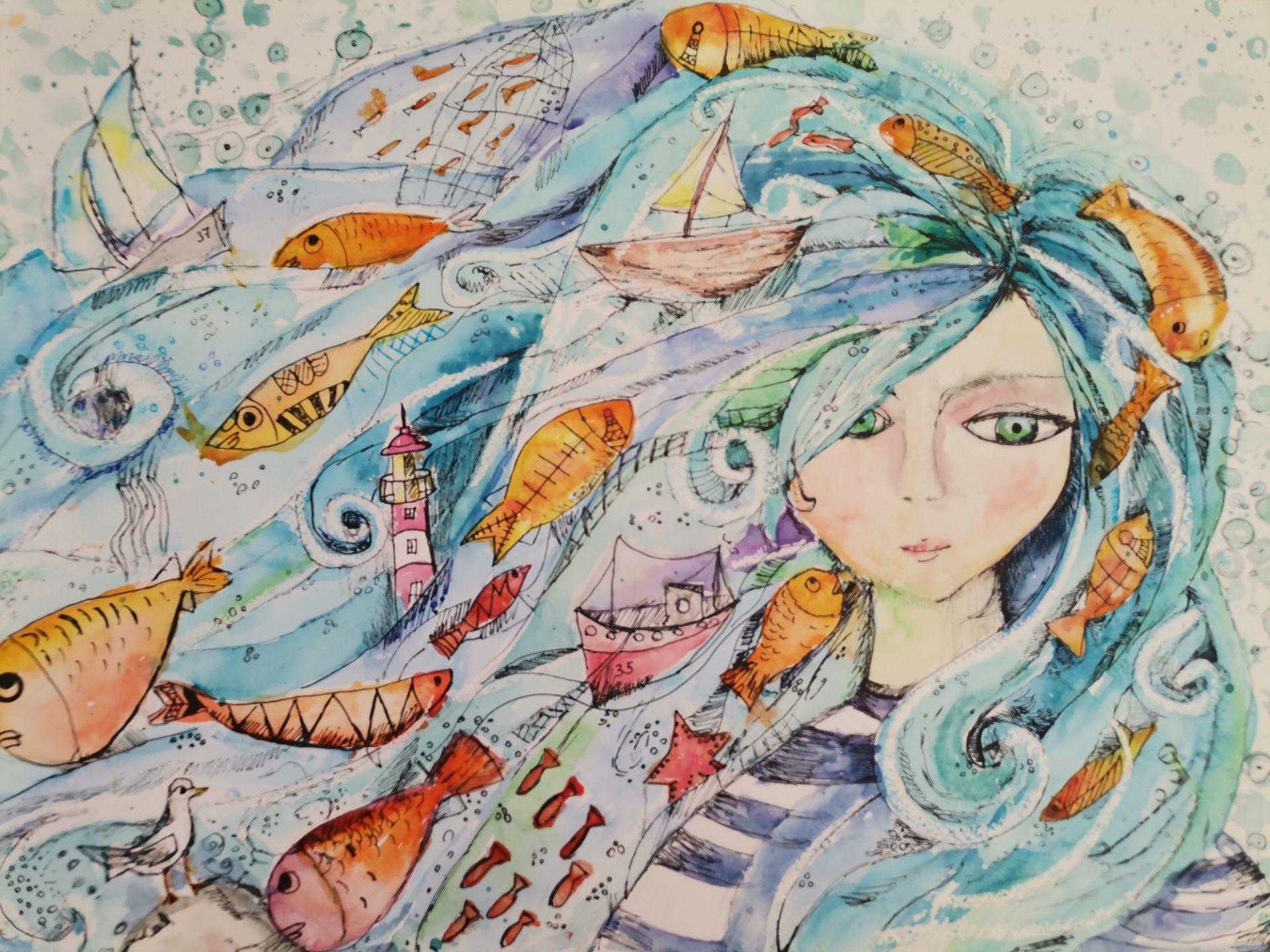 Рибарят и златната рибка - Александра Ордалиева