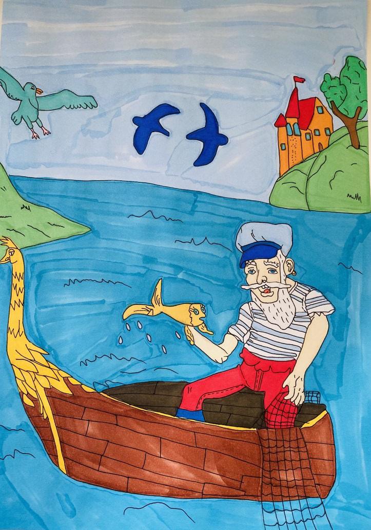 Рибарят и златната рибка - Нона Кирилова